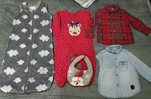 Ubranka dla chłopca roz 74, świąteczne