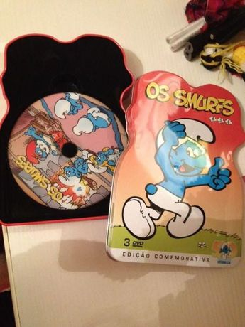 Caixa 3 dvds ''os smurfs''