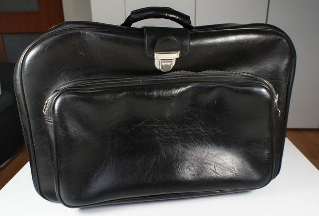 Walizka podróżna PRL, torba, lata 80-te - zadbana, antyk