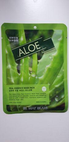 Maseczka w płachce/ płacie /nawilżająca Koreańska/ May Island/ Aloes