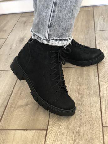 Ботинки нубук зимние 41 26,5 см