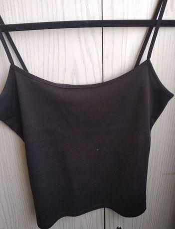 Czarna koszulka na ramiączkach - rozmiar XS/S