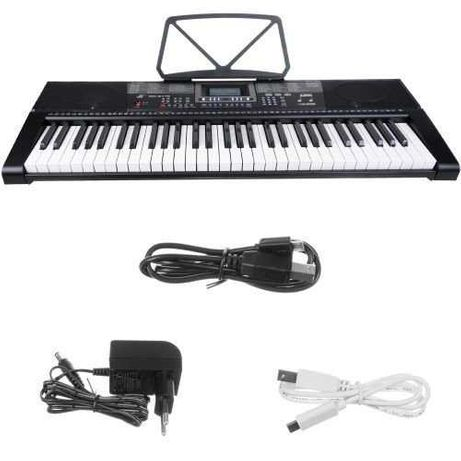 NOWY Keyboard - organy elektroniczne 61 klawiszy KABEL USB