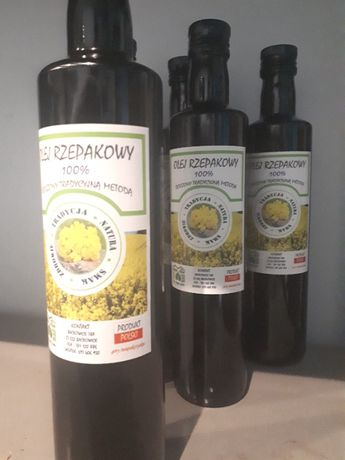 Olej rzepakowy konopny lniany