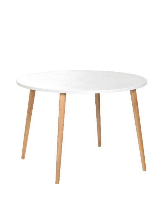 CRYSTAL WHITE / Stół stolik Kawowy / 600mm x 540 mm