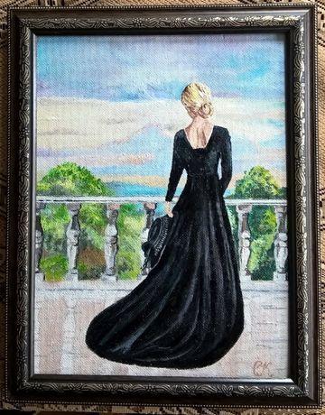 """Картина""""Девушка на балконе"""""""