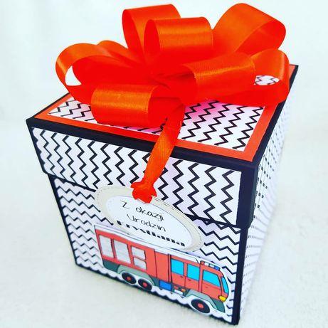 Urodzinowy exploding box,kartka urodzinowa,ręcznie robiona