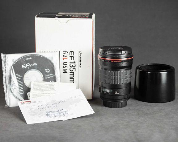 Объектив Canon EF 135mm f/2L USM 135 f 2 об'єктив (S/N: 228092)