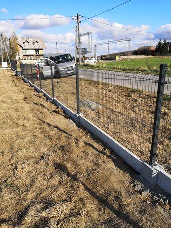65zł mb Kompletne ogrodzenie panelowe Panel Słupek Podmurówka MONTAŻ