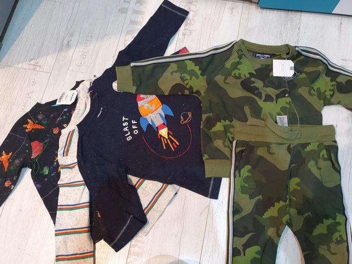 Bluzeczki i dres next 12-18 m 86 cm nowe zestaw Bielawa - image 1