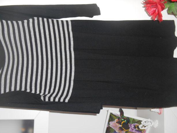 sukienka czarna w siwe paseczki George UK 16/44