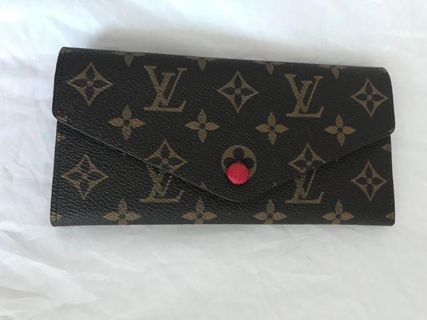Louis Vuitton skórzany czerwony monogram SKÓRA