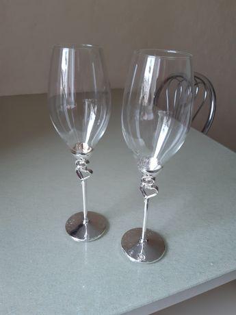 Бокали весільні срібло