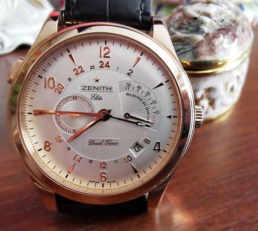UNIKAT, 18 K Złoto zegarek,ZENITH Elite Dual Time,44mm,Grande Class