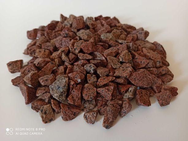 Kamień czerwony grys Vanga 8-16 mm granit  do ogrodu ozdobny