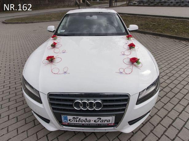 Dekoracje na samochód na zamówienie dowolny kolor. Ślub wesele