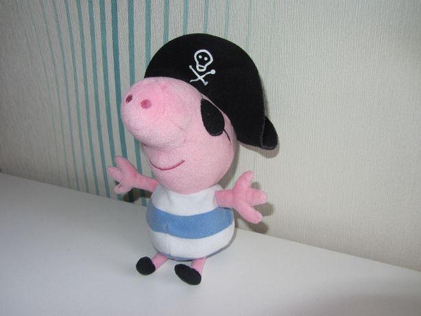 Мягкая плюшевая игрушка Поросенок Джордж Свинка Пеппа Peppa Pig TY