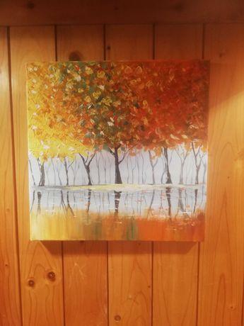 Ręcznie malowany obraz 29x29