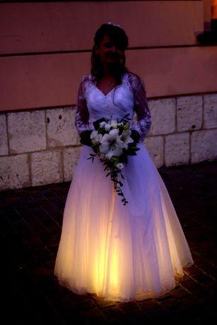 Sukienka Suknia Ślubna BELCANTO tren + 2x bolerko