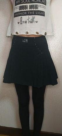 школьная зелёная юбка