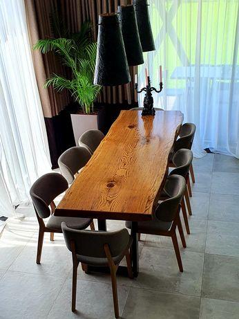Стол из слэба дуба. Мебель в стиле лофт. Более 50 готовых изделий!-19%