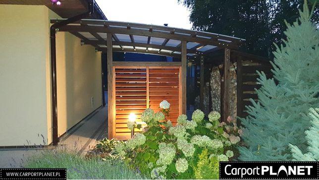 zadaszenie wiata garażowa przyścienna wolnostojąca drewniana