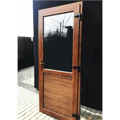 Nowe Drzwi PCV 90x210 Złoty Dąb