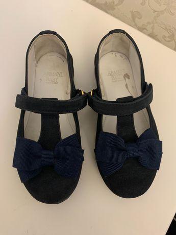 Туфли ARMANI Baby (оригинал) для девочки Monnalisa Blumarine Florens