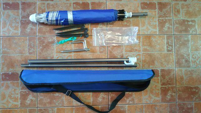 Зонт рыбак, пляжный, зонт для рыбалки с клапаном, УФ-защита. Есть Опт