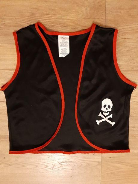 Strój pirat kamizelka piracka kostium pirata z czaszką