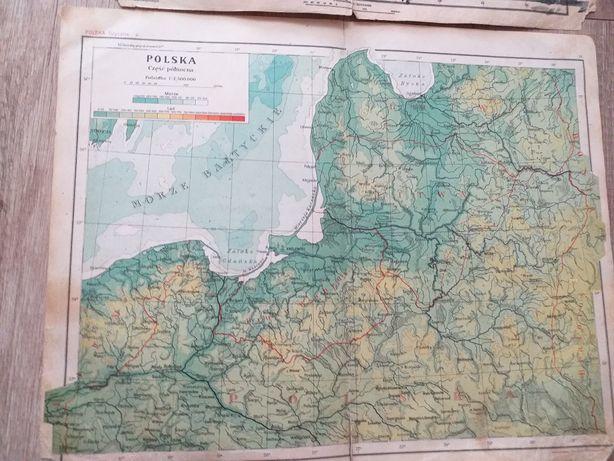 Mapy polska swiat 1925 romer