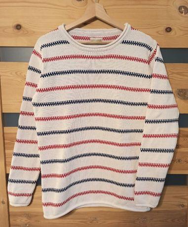 Newport sweter bawełniany damski w paski