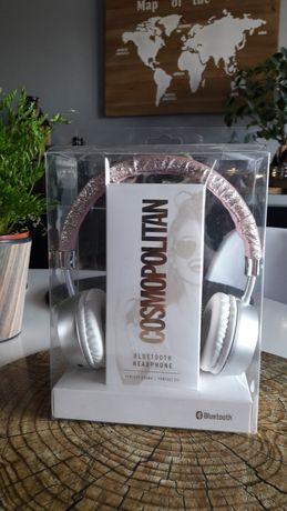 Różowe słuchawki bezprzewodowe Cosmopolitan