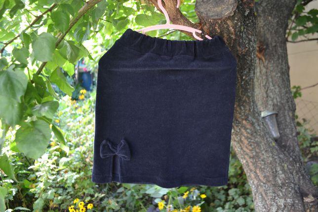 Школьная юбка из стрейч-вельвета рост 125-128 см