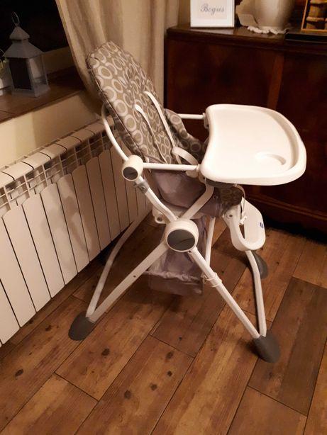 uniwersalne szare krzeselko do karmienia chicco