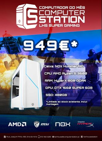 PC Gaming Ryzen 5 / GTX 1660 Super/ SSD 480GB