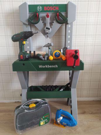 Warsztat dla dzieci do zabawy Bosch , dużo elementów wkrętarka