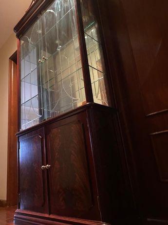 Móvel hall de entrada + cristaleira em madeira