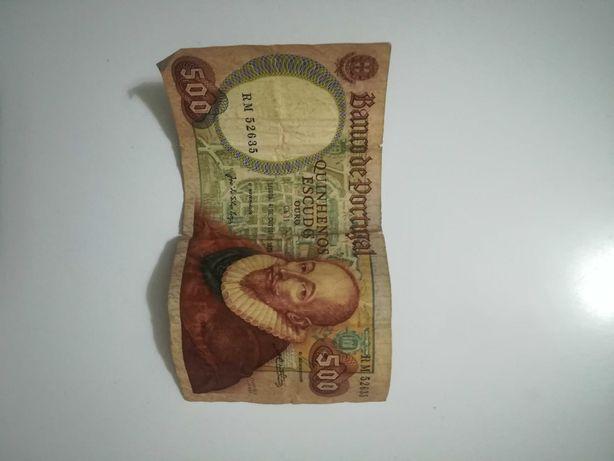 Nota 500 escudos 1979