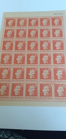 Znaczki pocztowe.ND Arkusz