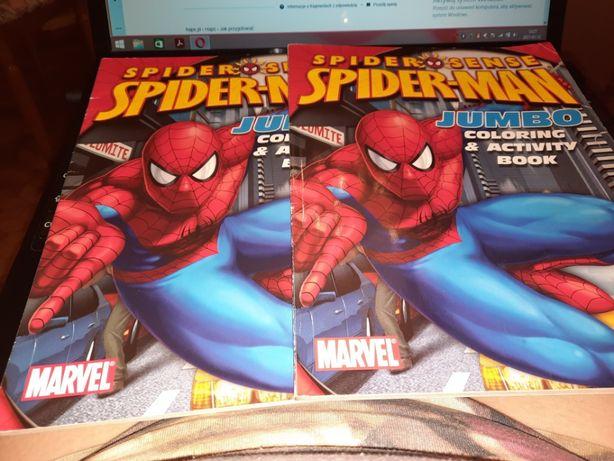 Kolorowanka Spider Man z łamigłówkami po angielsku 2 szt, kupiona w U