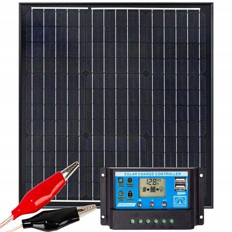 Panel solarny bateria słoneczna 40w 12v regulator [ZES271]