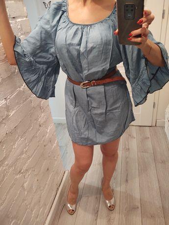 Sukienka/tunika z ozdobnymi rękawami