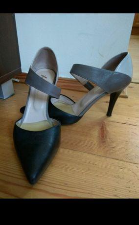 Buty szpilki skórzane