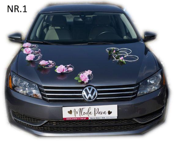 Dekoracja samochodu ozdoba na auto do ślubu NR.1. ŚLUB WESELE