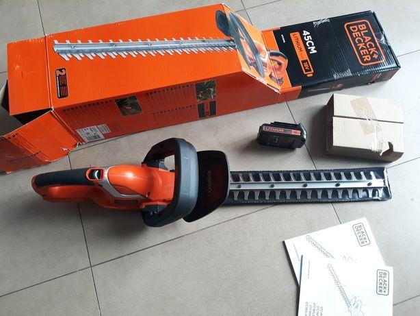 NOWE! BLACK+DECKER Akumulatorowe nożyce do żywopłotu GTC1845L