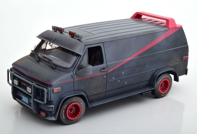 Model 1:18 Greenlight GMC Vandura Van A-Team 1983 Dirty Version!