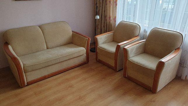 Zestaw wypoczynkowy. Kanapa + dwa fotele
