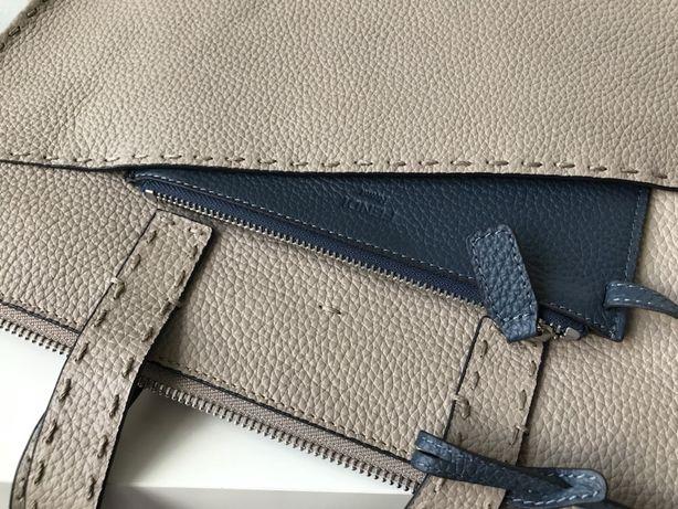 Fendi ręcznie szyta torebka aktówka na laptopa skóra naturalna