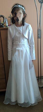 Sukienka komunijna z wiankiem
